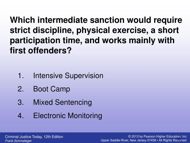 Which intermediate sanction would require