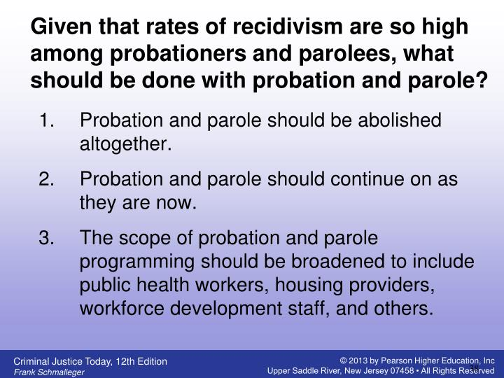 Given that rates of recidivism are so high