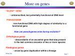 more on genes