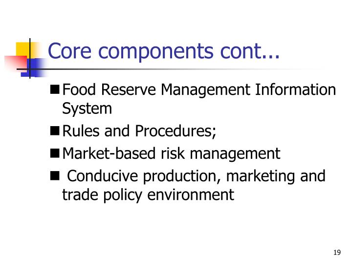 Core components cont...