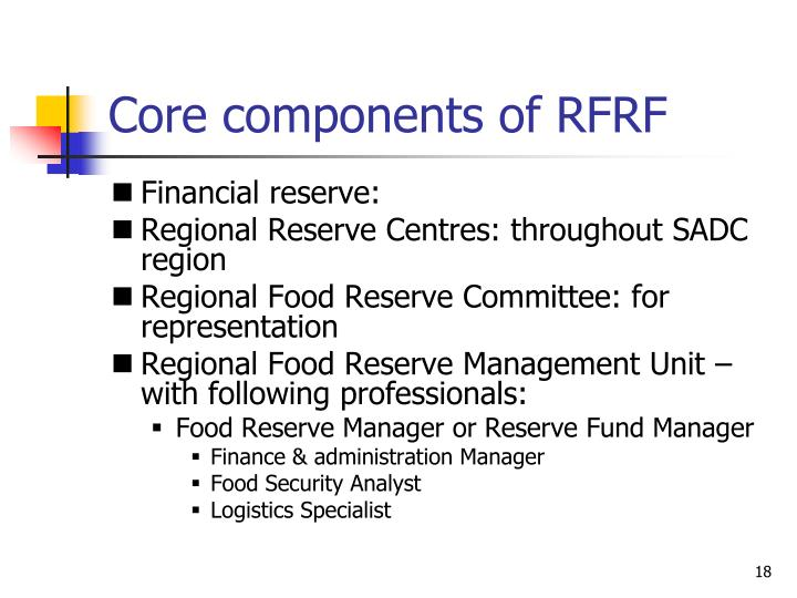 Core components of RFRF