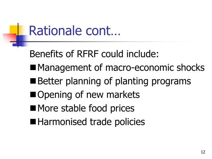 Rationale cont…