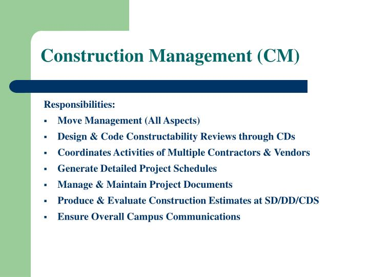 Construction Management (CM)