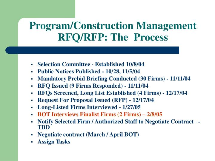 Program/Construction Management
