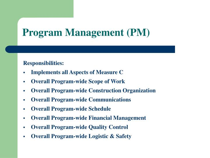 Program Management (PM)