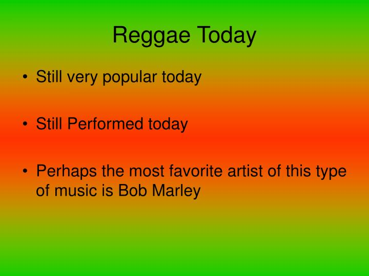 Reggae Today