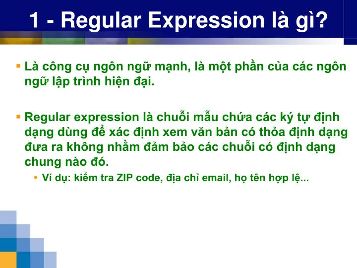 1 regular expression l g