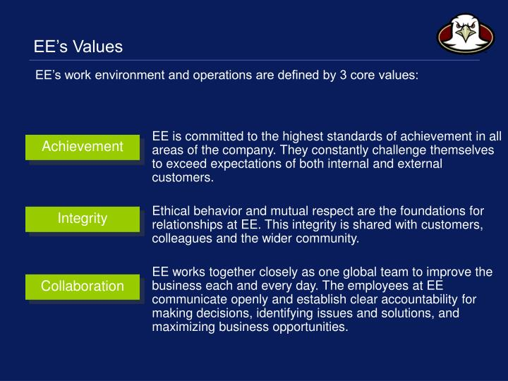 EE's Values