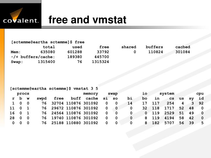 free and vmstat