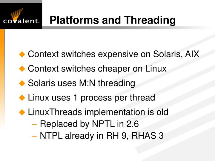 Platforms and Threading