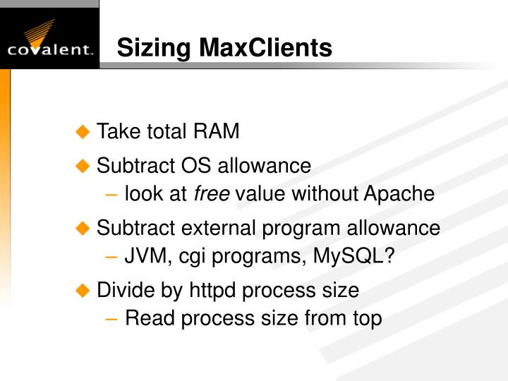 Sizing MaxClients