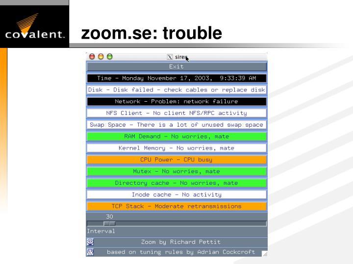 zoom.se: trouble