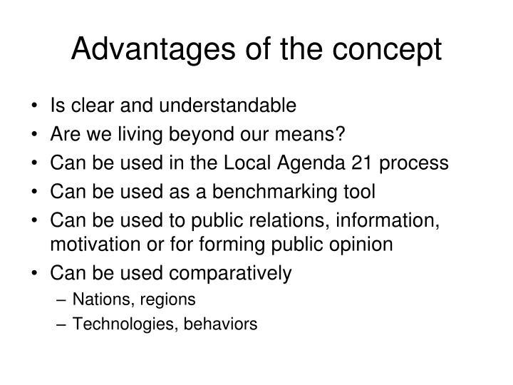 Advantages of the concept