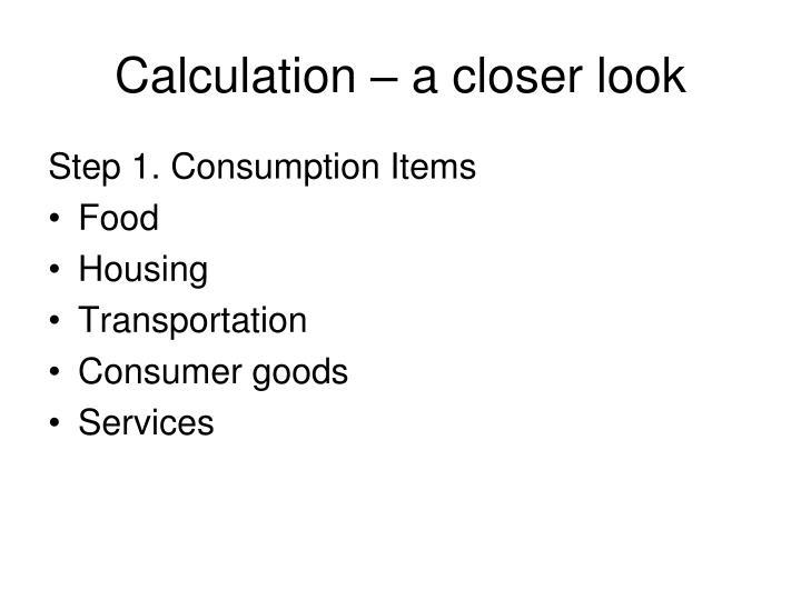 Calculation – a closer look