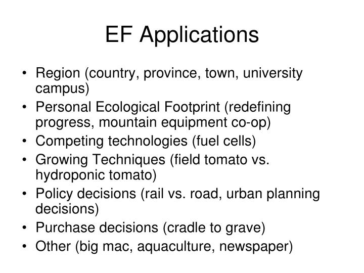 EF Applications