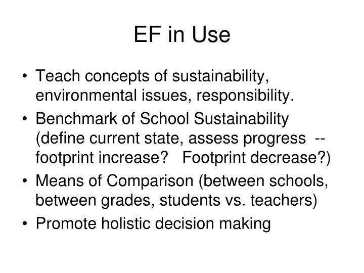 EF in Use