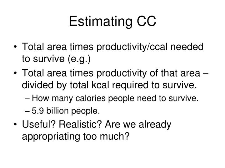 Estimating CC
