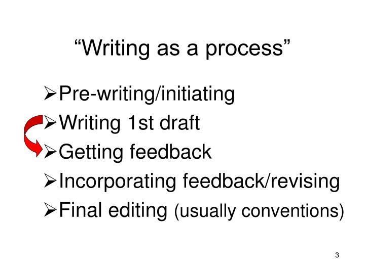 """Writing as a process"""
