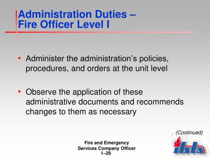 Administration Duties –