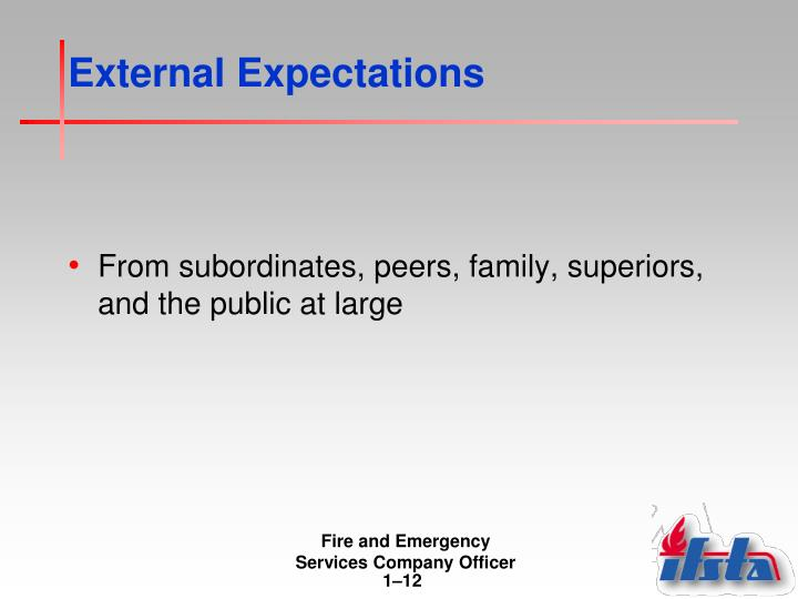 External Expectations