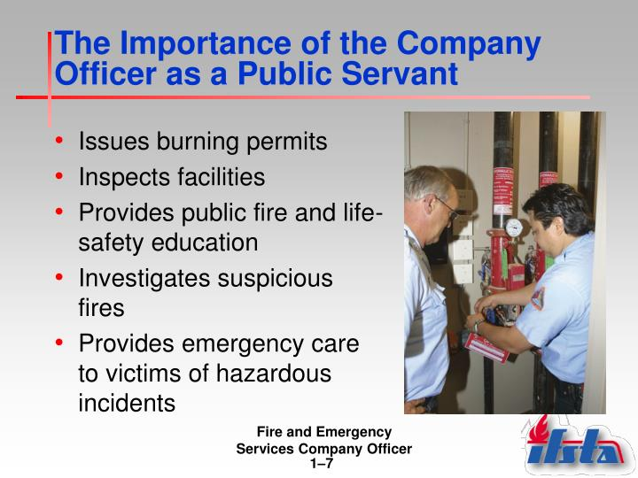 The Importance of the Company Officer as a Public Servant