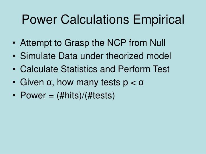 Power Calculations Empirical