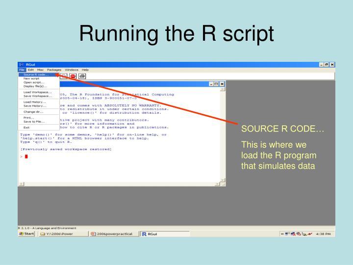 Running the R script