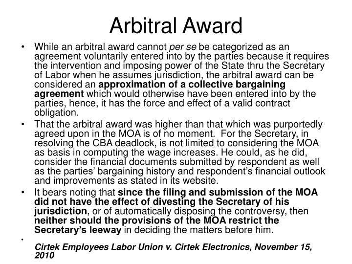 Arbitral Award