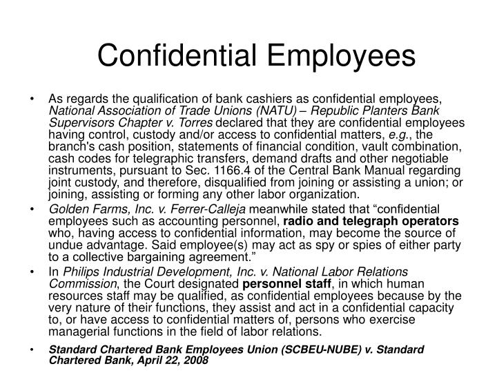 Confidential Employees