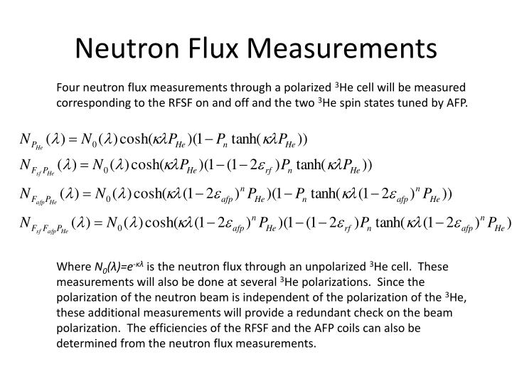 Neutron Flux Measurements