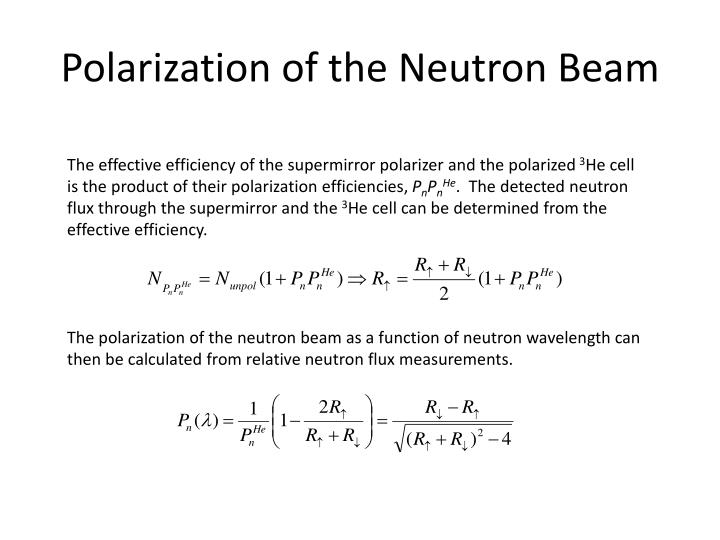 Polarization of the Neutron Beam