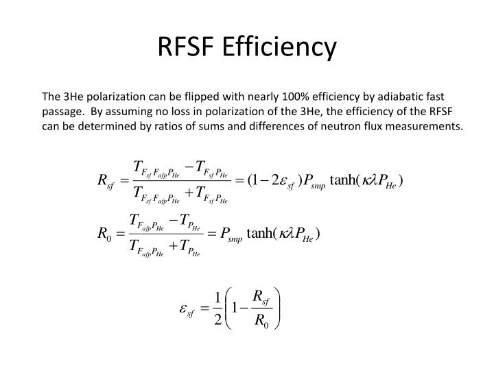 RFSF Efficiency