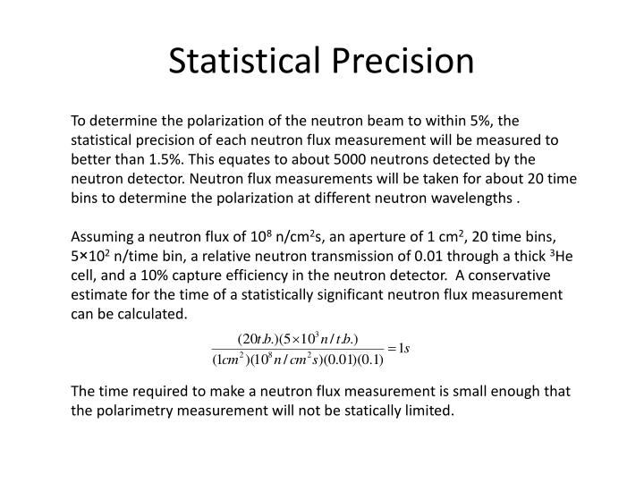 Statistical Precision