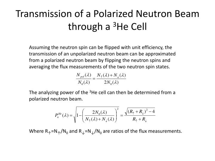 Transmission of a Polarized Neutron Beam through a