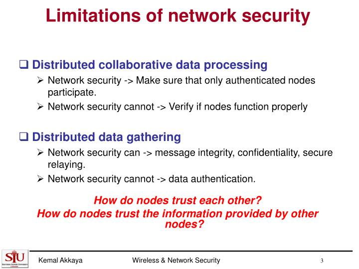 Limitations of network security
