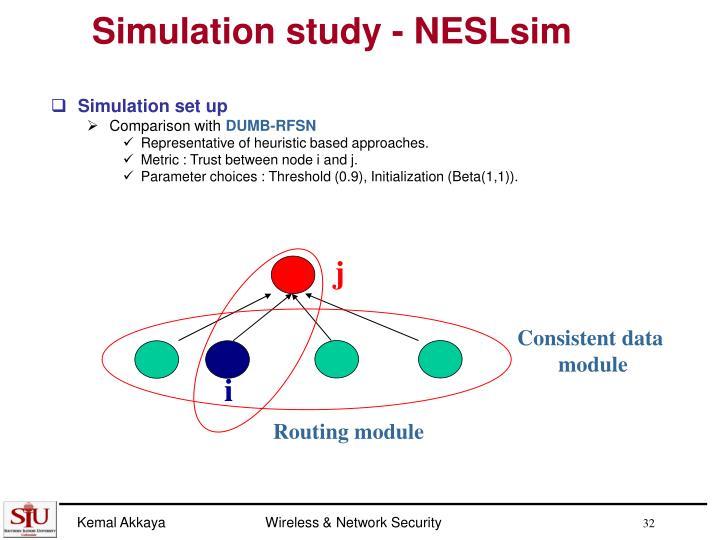 Simulation study - NESLsim