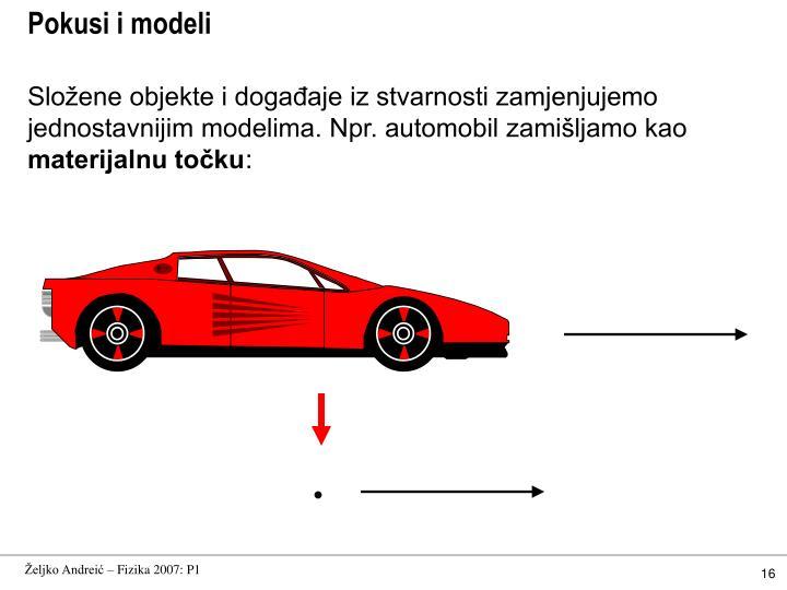 Pokusi i modeli