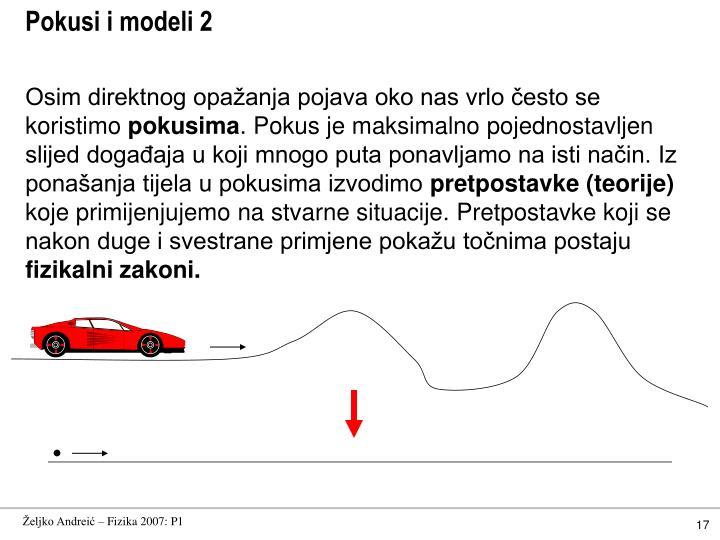 Pokusi i modeli 2