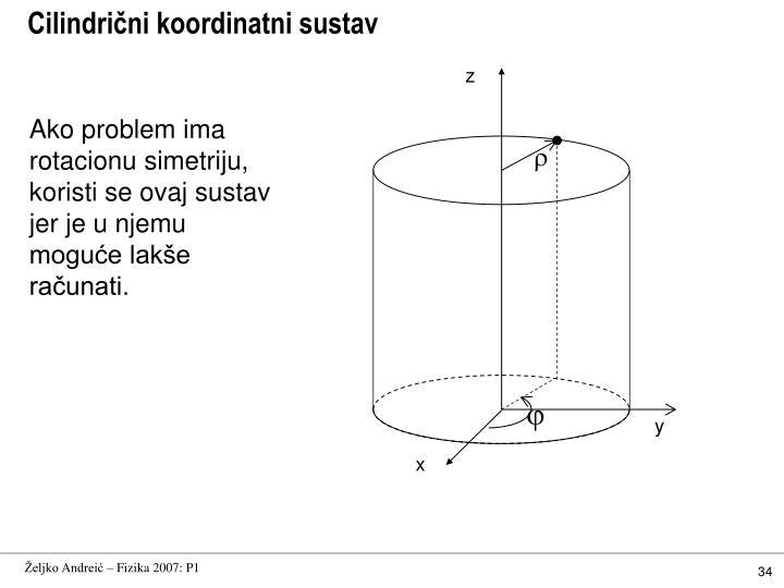 Cilindrični koordinatni sustav