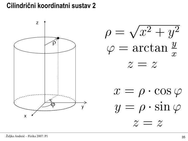 Cilindrični koordinatni sustav 2