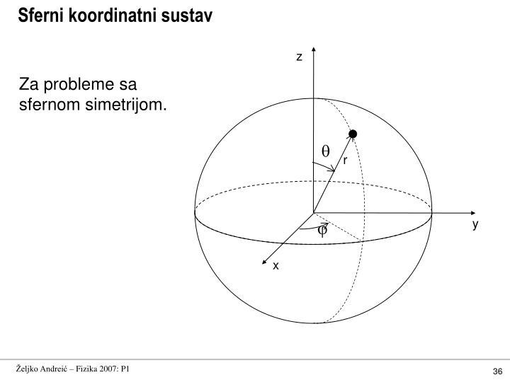 Sferni koordinatni sustav