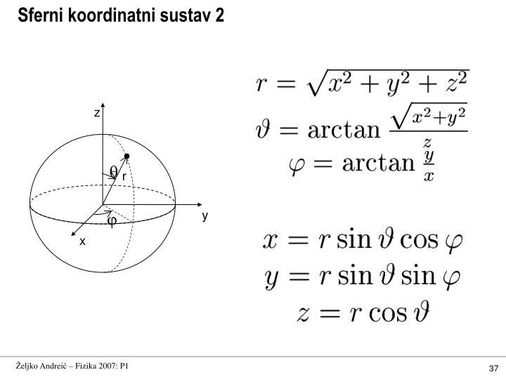 Sferni koordinatni sustav 2