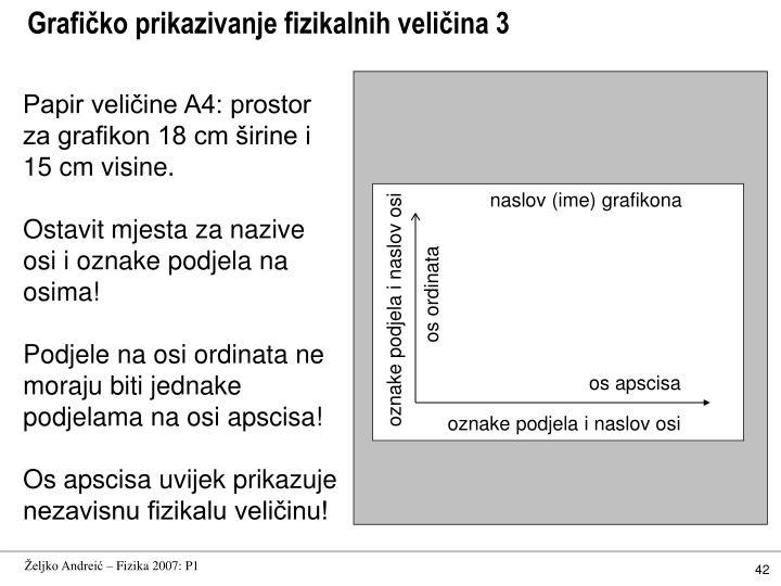 Grafičko prikazivanje fizikalnih veličina 3