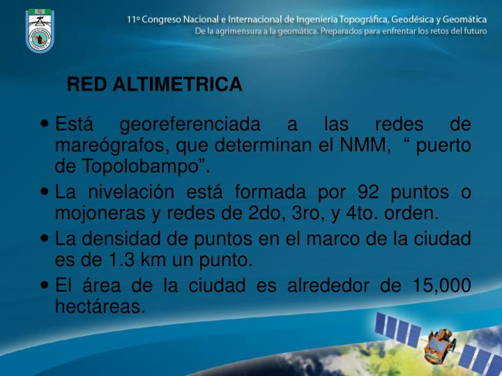 RED ALTIMETRICA