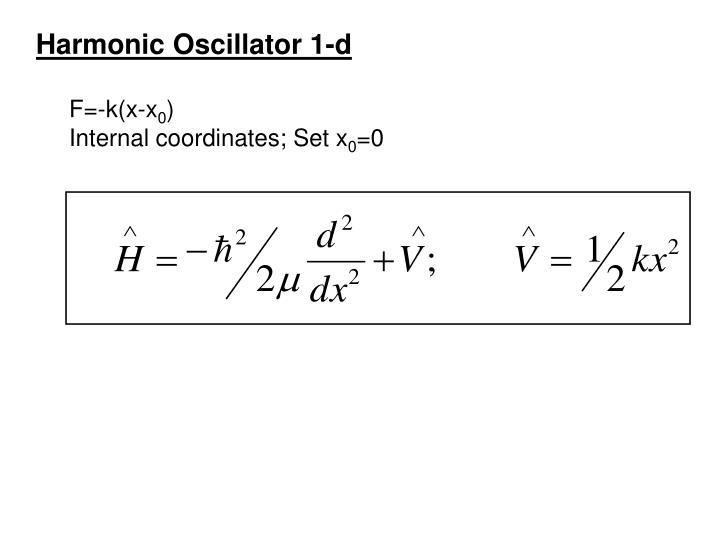 Harmonic Oscillator 1-d