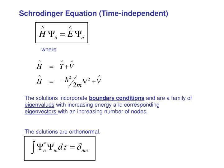 Schrodinger Equation (Time-independent)