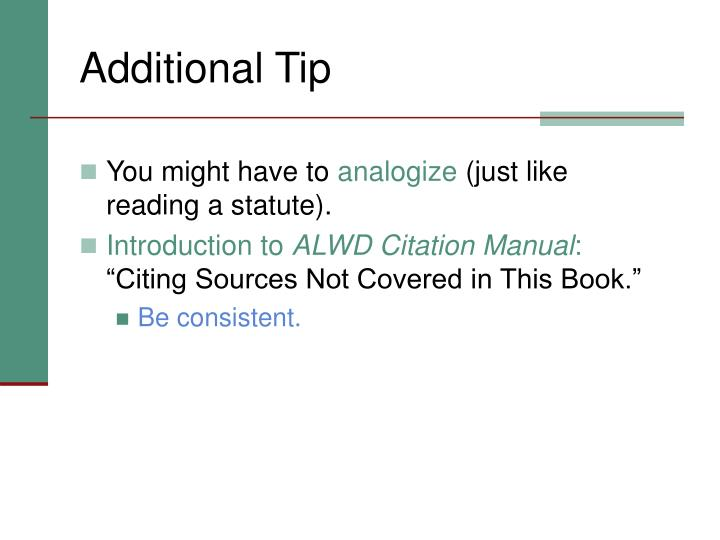 Additional Tip
