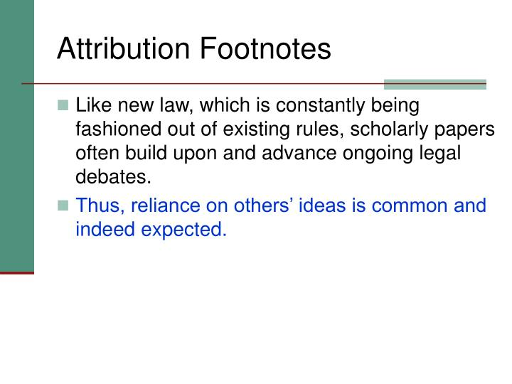 Attribution Footnotes