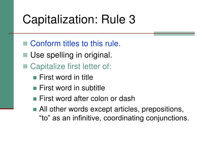 Capitalization: Rule 3