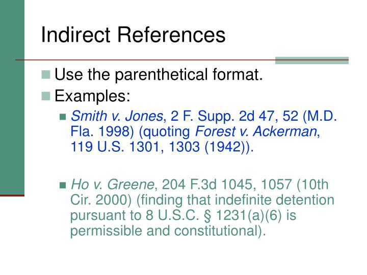 Indirect References